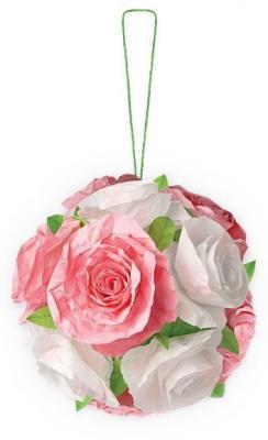 Набор для творчества Клевер Объемный Шар из роз от 10 лет АБ 41-503 набор для творчества клевер виток за витком барсик 1 шт аи 02 104