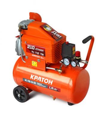 Компрессор Кратон AC-210-24-DD 1,5кВт компрессор автомобильный кратон ac 240 10 45