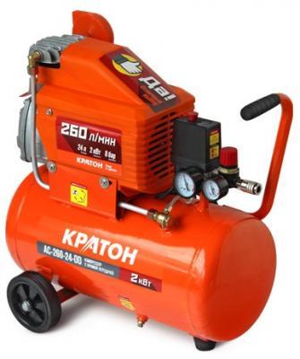 Компрессор Кратон AC-260-24-DD 2,0кВт компрессор автомобильный кратон ac 240 10 45