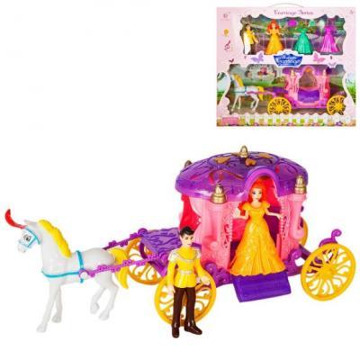 Набор игровой: карета роз., фигурки 2 шт, сменные наряды 2 шт., лошадка, кор. игровые фигурки смешарики фигурки gt7894 3 шт