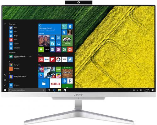 "Моноблок Acer Aspire C22-860 21.5"" Full HD i3 7130U (2.7)/8Gb/1Tb 5.4k/HDG620/CR/Windows 10/GbitEth/WiFi/BT/65W/клавиатура/мышь/Cam/серебристый 1920x1080"