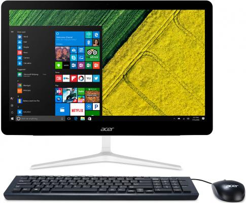 """Моноблок Acer Aspire Z24-880 23.8"""" Full HD i5 7400T (2.4)/8Gb/1Tb 5.4k/HDG630/DVDRW/CR/Windows 10/GbitEth/WiFi/BT/90W/клавиатура/мышь/Cam/серебристый 1920x1080 моноблок acer aspire z1 623 21 5 full hd i3 5005u 2 4gb 1tb hdg5500 dvdrw cr windows 10 home single language eth wifi bt spk клавиатура мышь cam черный 1920x1080"""
