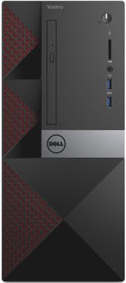ПК Dell Vostro 3667 MT i3 6100 (3.7)/4Gb/1Tb 7.2k/GT710 2Gb/CR/Windows 10 Home/GbitEth/WiFi/BT/клавиатура/мышь/черный