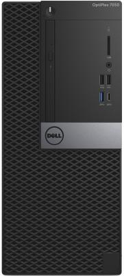 ПК Dell Optiplex 7050 MT i7 6700 (3.4)/8Gb/1Tb 7.2k/R7 450 4Gb/Linux/GbitEth/WiFi/BT/65W/клавиатура/мышь/черный системный блок dell alienware aurora r7 i7 8700k 3 7ghz 32gb 1tb 512gb ssd gtx1080 8gb dvd rw win10 клавиатура мышь черный r7 2844