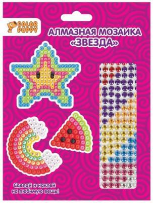 Алмазная мозаика-стикер Звезда, 3шт.