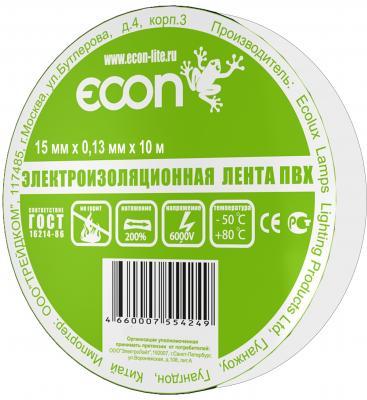 Изолента ECON 15/10, белый econ 78021