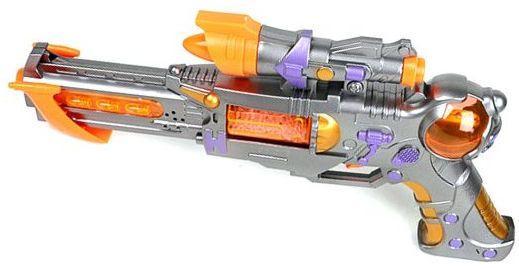 Бластер Наша Игрушка Бластер серебристый желтый оранжевый 1018B бластер boomco smart shot