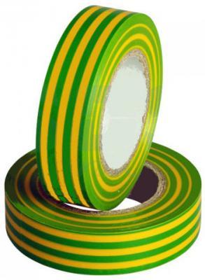 Изолента SAFELINE 15/10 желтая-зеленая эра c0036559 пвх изолента 15ммх10м желто зеленая