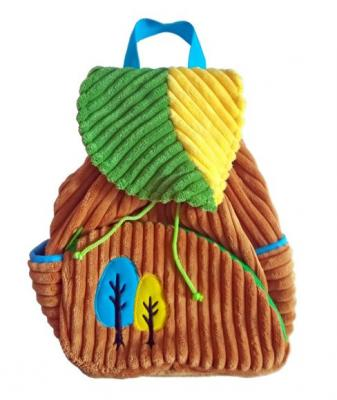 Рюкзачок Лес беж./зел. 20*28 см, пакет