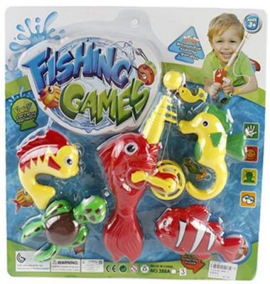 Интерактивная игрушка Наша Игрушка Рыбалка магнитная удочка от 3 лет 388A-3 интерактивная игрушка ar gun yz618