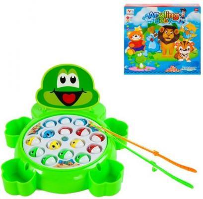 Интерактивная игрушка Наша Игрушка Рыбалка эл. Лягушонок от 3 лет зелёный 9981-15A игрушка наша игрушка граффити 6142r