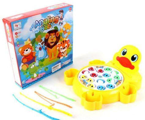 Интерактивная игрушка Наша Игрушка Рыбалка эл. Утенок от 3 лет жёлтый 9981-17A игрушка