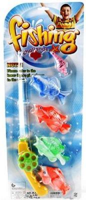 Интерактивная игрушка Наша Игрушка Рыбалка удочка от 3 лет JL3218E интерактивная игрушка redwood акула акробат тайгер с аквариумом от 3 лет фиолетовый 159025