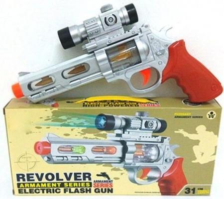 Револьвер Наша Игрушка Револьвер серебристый оранжевый Y9082345 в москве травматический револьвер таурус