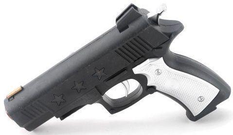 Пистолет Наша Игрушка Пистолет черный белый 133