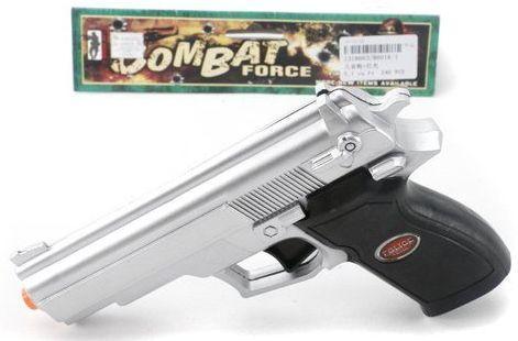Пистолет Наша Игрушка Пистолет серебристый черный 8601A-1 цена