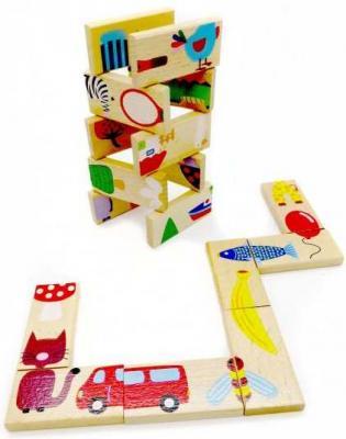 НИ Домино-логика Сложи рисунок, 28 дет., кор. игрушка домино счёт артикул д395