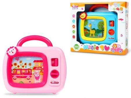 Купить Интерактивная игрушка Наша Игрушка Музыкальный телевизор от 3 лет в ассортименте 1501, пластик, унисекс, Игрушки со звуком