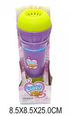 Микрофон с эффектом эхо., Наша Игрушка, фиолетовый, Детский микрофон  - купить со скидкой