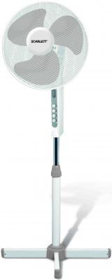 Вентилятор напольный Scarlett SC-1371 35 Вт белый вентилятор scarlett sc sf111t01 белый