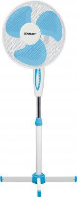 Вентилятор напольный Scarlett Comfort SC-SF111B04 45 Вт белый/голубой вентилятор scarlett sc sf111t01 белый