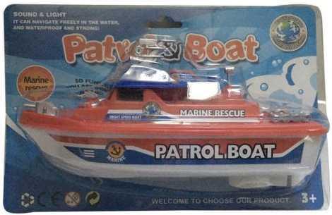 Крейсер Наша Игрушка Патрульный катер красный 0679B-1