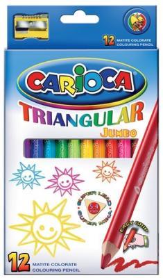 Набор карандашей цветных CARIOCA TRIANGULAR JUMBO, 12 цв., трехгранные, в карт. коробке universal набор карандашей цветных carioca triangular 12 цв трехгранные