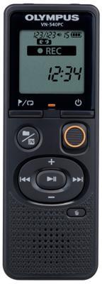Цифровой диктофон Olympus VN-540PC 4Гб черный диктофон olympus vn 541pc cs131 soft case 4 gb черный