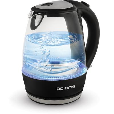 Чайник Polaris PWK 1076CGL 2200 Вт чёрный 1.7 л стекло чайник polaris pwk 1076cgl