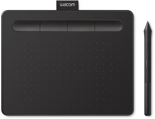 Графический планшет Wacom Intuos S черный CTL-4100K-N графический планшет wacom intuos draw white pen s цвет белый ctl 490dw n