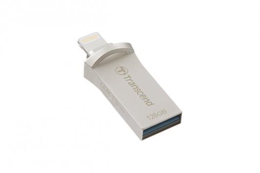 Флешка USB 128Gb Transcend JetDrive Go 500 TS128GJDG500S серебристый карта памяти 128gb transcend jetdrive lite 130 ts128gjdl130 для macbook air 13 l10 e14
