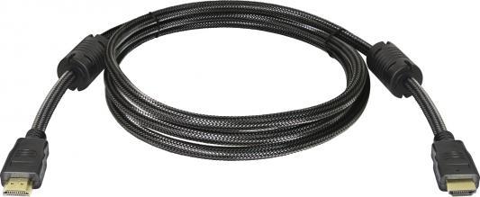 Кабель HDMI 2м Defender 87342 круглый черный кабель hdmi 5м defender 87353 круглый черный