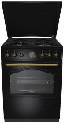 Комбинированная плита Gorenje K62CLB черный цена и фото