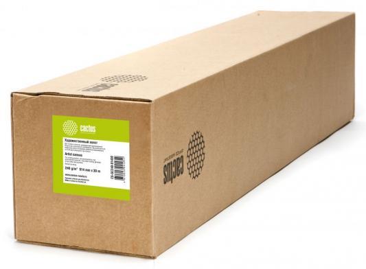 Холст Cactus CS-GC240-91430 914мм-30м 240г/м2 белый глянцевое для сольвентной/латексной/УФ печати втулка 50.8мм 2