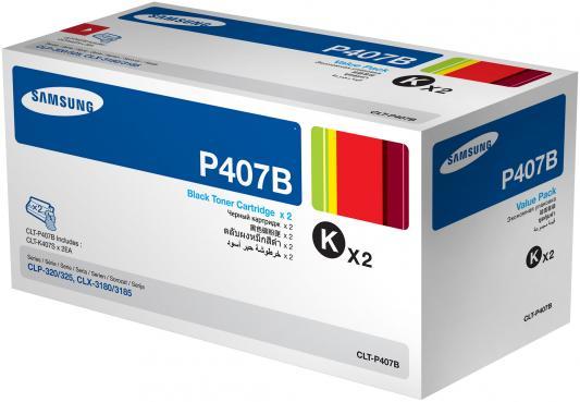 купить Картридж Samsung SU385A CLT-P407B для CLP-320/325/CLX-3185 черный 1500стр двойная упаковка недорого