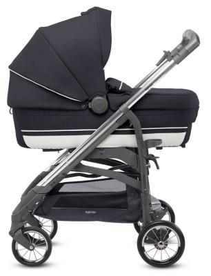 Коляска 4-в-1 Inglesina Trilogy Plus System Quattro на шасси Trilogy Plus Chrome Slate (AA33K6PNT + AE36K6100) детская коляска esspero classic 3 в 1 шасси chrome