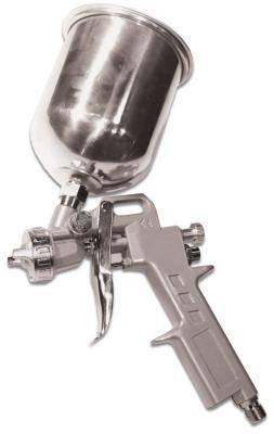 Краскораспылитель SANTOOL 110403 верхний метал. бачок 0.6л диаметр сопла 1.2, 1.5 и 1.8мм