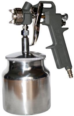 Краскопульт для компрессора QE 770-827 нижний бачок 0.75л сопло 1.5мм разъем EURO пистолет обдувочный quattro elementi короткий носик разъем euro
