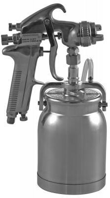 цена на Краскопульт для компрессора JONNESWAY JA-507S нижний бачок алюминий 1л, дюза 1.6мм