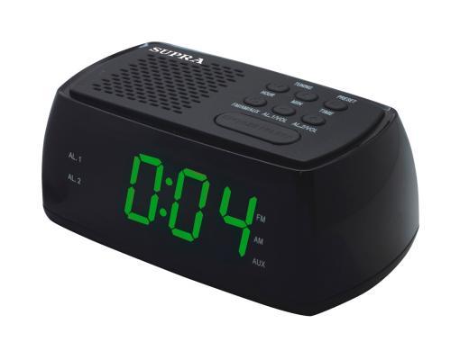 цена на Часы с радиоприёмником Supra SA-45FM зелёный чёрный