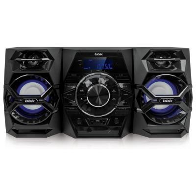 Минисистема BBK AMS117BT 120Вт черный/синий аудиомагнитола bbk bs01 черный и белый