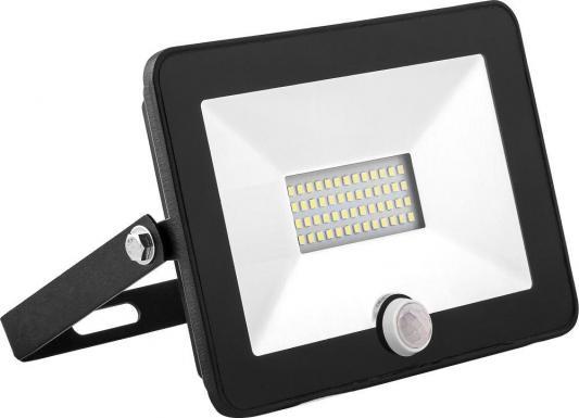 Прожектор светодиодный SAFFIT 29524 с датчиком 2835SMD, 50W 6400K IP65, черный, SFL80-50