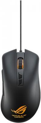 Мышь проводная ASUS ROG Harrier GT300 чёрный USB мышь проводная asus gx950 чёрный usb 90 xb3l00mu00000