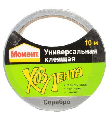 Лента клеящая HENKEL Момент 011149  10м полиэтилен хлопок каучук смолы