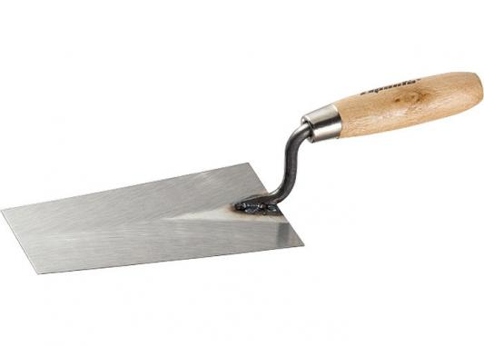 Кельма SPARTA 862745 каменщика стальная 160мм деревянная ручка кельма штукатура 160мм деревянная ручка кедр 049 3160