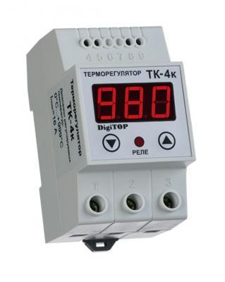 все цены на Терморегулятор DIGITOP ТК-4к термопара ТХА креплением на DIN-рейку онлайн