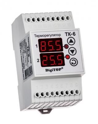 все цены на Терморегулятор DIGITOP ТК-6 креплением на DIN-рейку онлайн