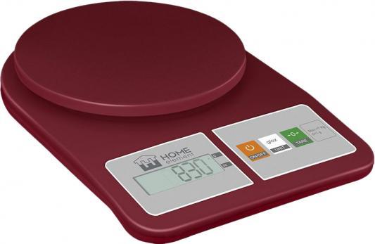 Весы кухонные HOME ELEMENT HE-SC930 красный гранат