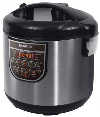 Мультиварка Marta MT-4324 Ceramic черный жемчуг 500 Вт 3 л мультиварка marta mt 4324 ceramic 500 вт 3 л черный жемчуг