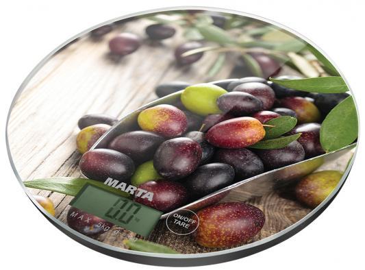 Весы кухонные Marta MT-1635 рисунок кухонные весы marta mt 1635 морозные ягоды